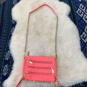 Rebecca Minkoff Mini MAC clutch crossbody hot pink